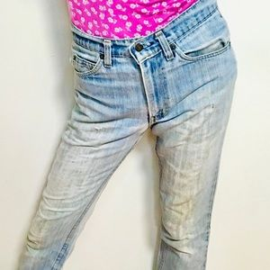 VINTAGE Orange Label Levi 505 High Waist Jeans